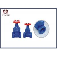 China Resilient Seated BSPT Screwed Gate Valve , Cast Iron Gate Valve With Red Handwheel wholesale