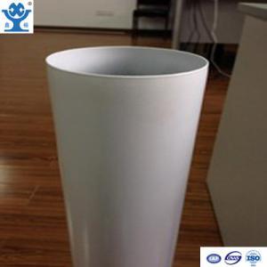 China Competitive price extruded white powder coated aluminum tube wholesale