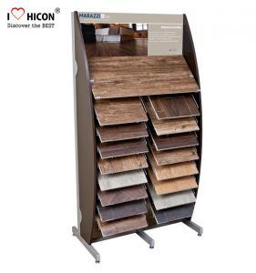 China Decoration Tile Display Racks Floor Show Tile Stand Wooden Floor Tile Merchandising wholesale