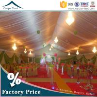 China 20mX50m Large Wedding Tent Party Marquee With Colorful Roof Lining and Curtain wholesale