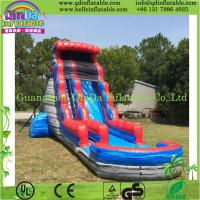 Inflatable Water Slide China: Durable Inflatable Slide With Pool, Water Slide Park