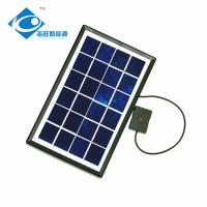 China Home Industrial transparent solar panel ZW-2.5W trina solar panel Chinese PET Laminated Solar Panel wholesale