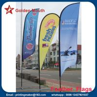 China Custom Outdoor Feather Banner Flags with Dye Sublimation Printing on sale