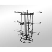 China Commercial Four sided Turnable stackable Wire Metal Display Rack Stand chromed plated wholesale