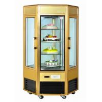 China 6 Door Food Showcase Refrigerator Rotating Countertop Display For Confectionery wholesale