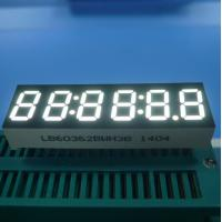 China 6 Digit 7 Segment LED Display , Ultra Bright White LED Clock Diplay 0.36 Inch wholesale