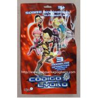 China Red Printed Metalized Foil 3 Side Seal Bag for Toy , Gift , Cards , Present wholesale