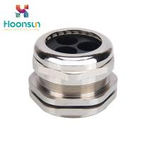 China Dustproof Waterproof Copper Cable Gland M12 - M63 With Silicone Multiple Entry wholesale