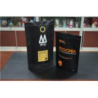 China Custom Printed Stand Up Coffee Bag With Degassing Valve / Coffee Bean Packaging Bag on sale