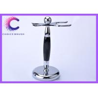 Quality Chrome Shaving Brush And Razor Stand for Barber shop , travel agencies for sale