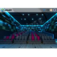 China Electric Pneumatic System 3D 4D Movie Theater Special Effect Black Motion Chairs wholesale