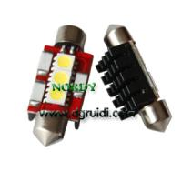 Buy cheap Led Festoon canbus light 3SMD5050 No Error LED Bulbs 0.8W 12Vwhite yellow red from wholesalers