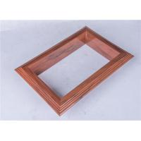 China Extruded PVC Plastic Profile Wooden Effect Designed For Decoration wholesale