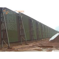 Quality Green PET Wind Screen Fence for Petroleum Coke Dust Control   Dust Control Fence for sale