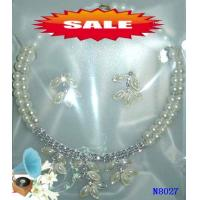 China Fashion Crystal Casting Costume Jewelry Beaded Pearl Necklace for Party 20g OEM wholesale