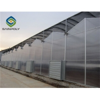 China The cheapest agricultural hollow 120km/h pc sheet greenhouse   for  vegetable flower planting on sale