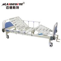China Two Cranks Back Lifting Manual Hospital Bed Adjustable With ISO / CE / FDA wholesale