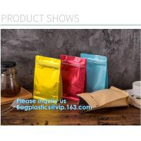 China Biodegradable CompostMiddle Seal, K Bottom Seal, Flat Pouch, Luxury Coffee Beans Pouch Packaging Bags With One Way Valve wholesale