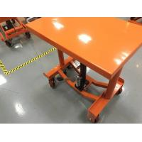 China Safety Hand Post Lift Table Hydraulic Workshop Platform For Smooth Finished Floors wholesale
