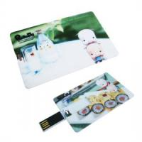 China Full color printing business card usb flash drive wholesale