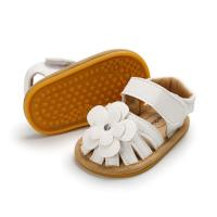 Quality New summer 0-2 years old infant leather flower baby sandal shoes oem soft sole toddler sandals for sale