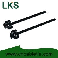 China LKS-457M PPA Coated Releasable Stainless Steel Cable Ties wholesale