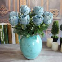 China UVG FLRS50 Preserved Flower Wedding Gifts for guests Artificial Blue Rose Flower on sale
