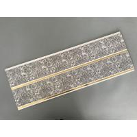 China Dark Gray Printing PVC Wall Panels With Golden Lines Recyclable Material wholesale
