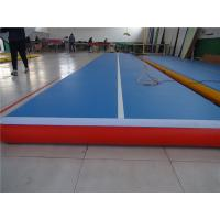 China Gymnastic Club Inflatable Bounce Mat , Air Pro Tumble Track Long Life Span wholesale
