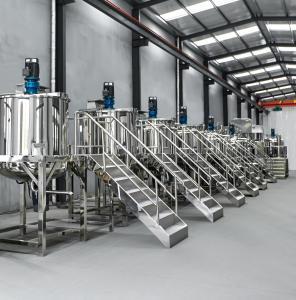 China High Homogenizing Rotation Shampoo Liquid Blending Mixer Tank wholesale
