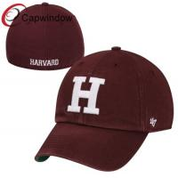 China Harvard Crimson Red Franchise Fitted Baseball Hats / College Cotton Baseball Caps for Adults wholesale