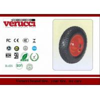 China 6.00 - 6 Pu Barrow solid Rubber Wheel 147MM × 377MM For Sack Truck wholesale