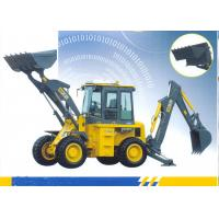China 65kw Engine Loading Bucket 1.0 CBM Tractor Loader Backhoe With 9500 Kg Operating Weight wholesale