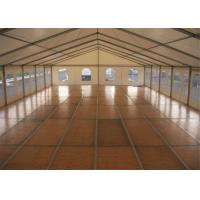 China Wind Resistant 10MX30M Custom Event Marquee Tent With VIP Wooden Floor wholesale