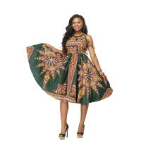 China Women Fashion African Print Clothing , 100% Cotton Wax African Style Dresses Shoulder wholesale