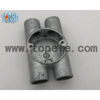 China BS4568 Electrical Conduit Fittings Twin Through Way H Malleable Iron Box 20mm -32mm wholesale