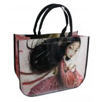 Buy cheap Shopping Reusable Carrier Bags Beauty Round Conner , printed canvas bags from wholesalers