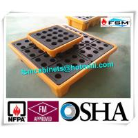 China 4 Drum / 2 Drum Spill Containment Pallet With Drain For Oil Drum wholesale