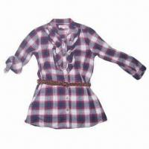 China Fashionable Girl's Shirts with Belt wholesale
