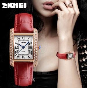 China Retro Joker Fashion Skmei Vogue Ladies Leather Strap Quartz Wrist Watches 1281 wholesale