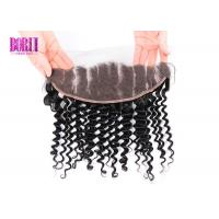 Quality Peruvian Human Hair Lace Frontal Transparent 13X4 Ear To Ear Deep Curly for sale