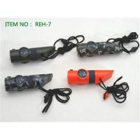 China multifunction whistle compass,with mirror and thermometer promotion keychain compass wholesale