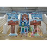 Quality White Bounce Inflatable Outdoor Water Slide Rental Amazing For Party for sale