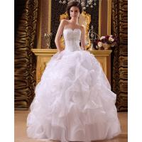 China Sexy halter sweetheart neckline puffy wedding dresses with open back wholesale
