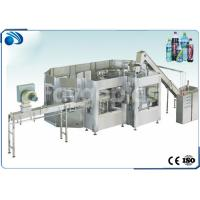 China 3 in 1 Automatic Bottle Filling Machine For Carbonated Drink / Juice Soft Drink 200-2000ml wholesale