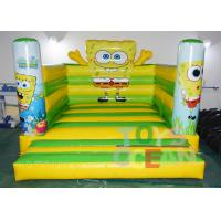 China Children Bounce Fun Spongebob Inflatable Jumping Castle Air Cartoon Moonwalk wholesale