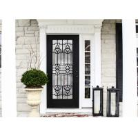 Buy cheap Elegant Inlaid Wrought Iron Glass / Decorative Door Glass For Building Hand Forged Textures from wholesalers