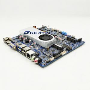 China Indusrial I3 Mini ITX Motherboard Skylake Core I3 6100U CPU,Support 4K,3 Display DP VGA LVDS ZC-T6100SL-D4 wholesale