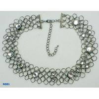 China Crystal Unisex Fashion Solid rhodium Chains Mixed Metal Necklace for Anniversary wholesale