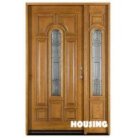 China Glazed Heat Solid Timber Door For Villas , Six Layer Painting Finishing on sale